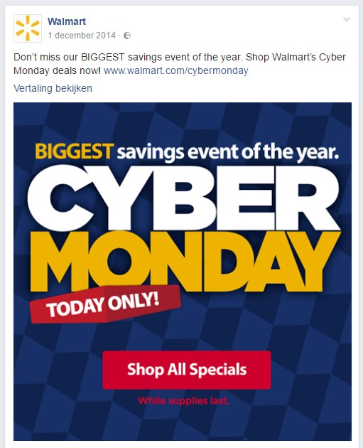 Cyber Monday advertentie