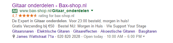 Voeg een call to action toe aan je advertentie