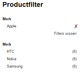 Productfilter